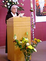Sr. Genevieve proclaims 1st Reading