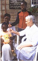 Sr. Ivanna with children at Cheshire Home, Kariobangi