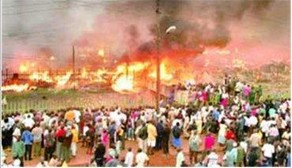Owino Market in flames