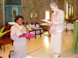 Sr. Bridgette receives Loice's Vows