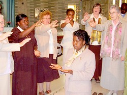 Franciscan Sisters sing Blessing