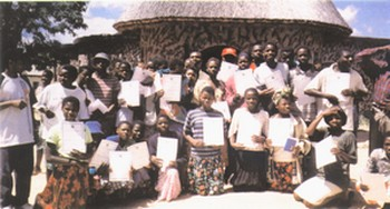 Group of Young Facillitators show their Certificates