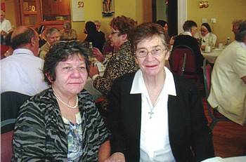 Francis with her sister, Cathy