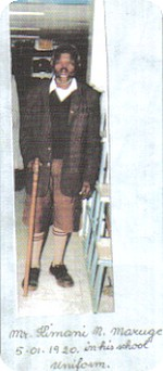 Kimani dressed in school uniform